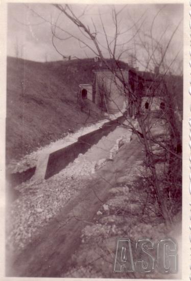 Abbruch der Eskarpenmauer 1947